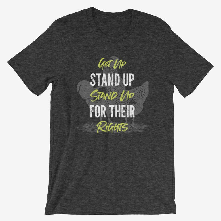 Mens Get Up Stand Up Short-Sleeve T-Shirt - Dark Grey Heather / S