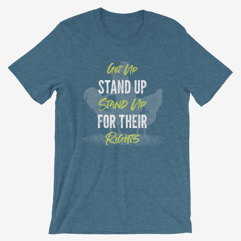 Mens Get Up Stand Up Short-Sleeve T-Shirt - Heather Deep Teal / S