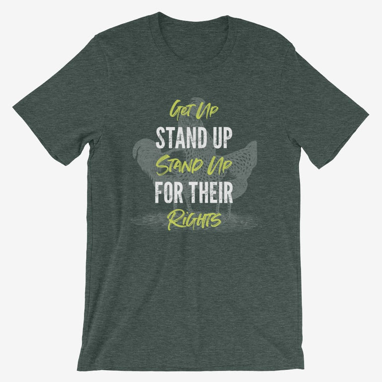 Mens Get Up Stand Up Short-Sleeve T-Shirt - Heather Forest / S
