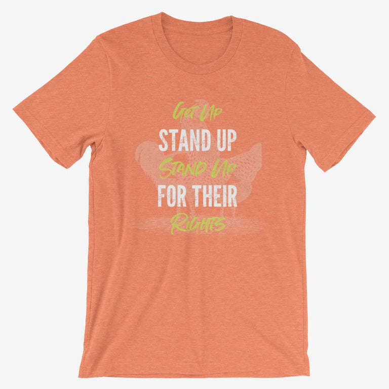 Mens Get Up Stand Up Short-Sleeve T-Shirt - Heather Orange / S