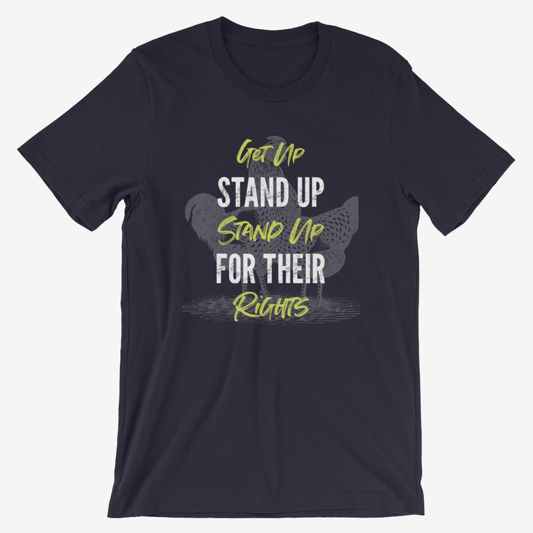 Mens Get Up Stand Up Short-Sleeve T-Shirt - Navy / S