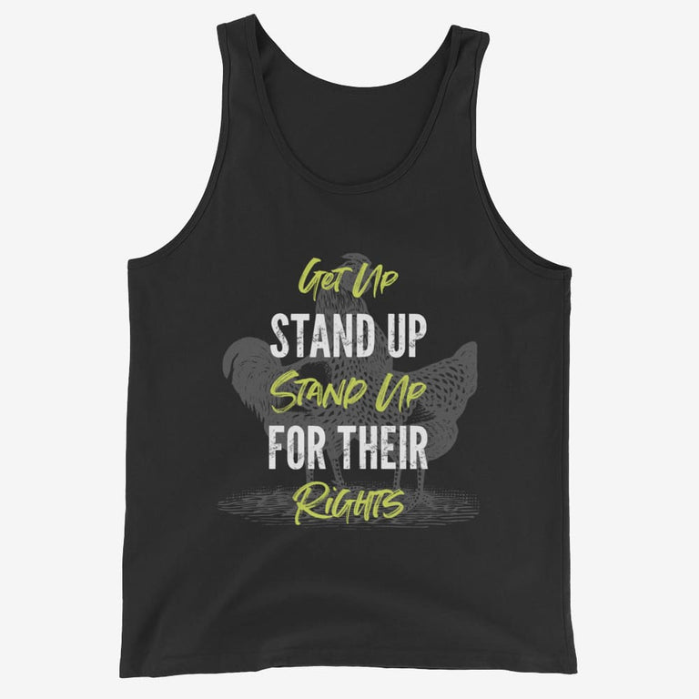 Mens Get Up Stand Up Tank Top - Black / Xs