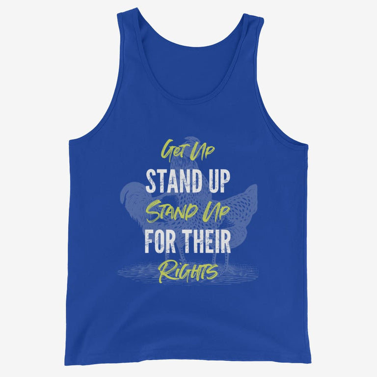 Mens Get Up Stand Up Tank Top - True Royal / Xs
