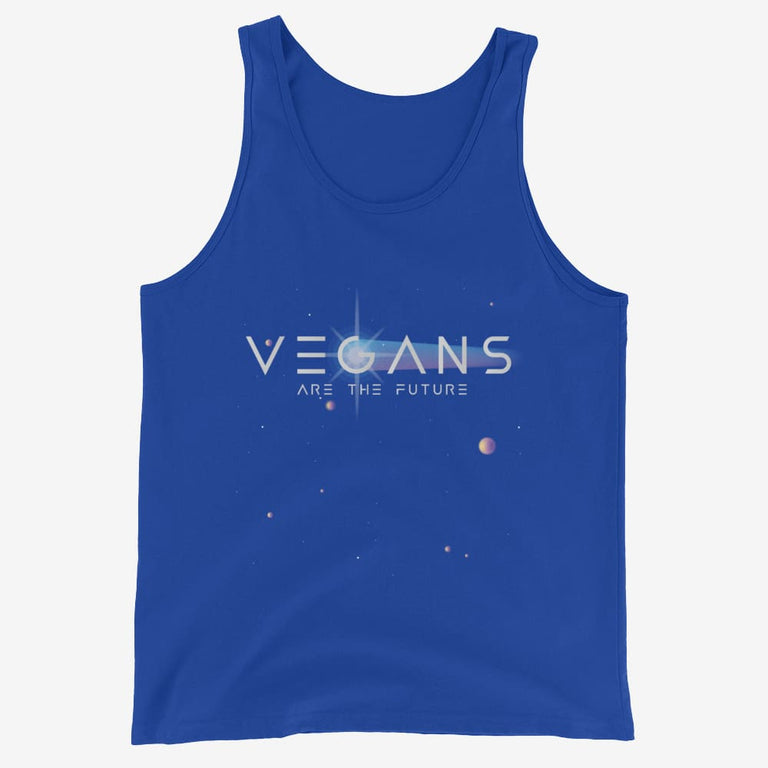Mens Vegans Are The Future Tank Top - True Royal / Xs
