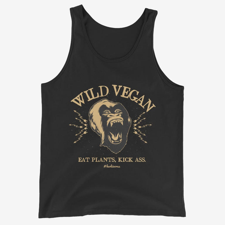 Mens Wild Vegan Tank Top - Black / Xs
