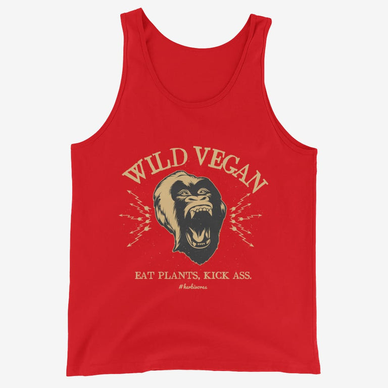 Mens Wild Vegan Tank Top - Red / Xs