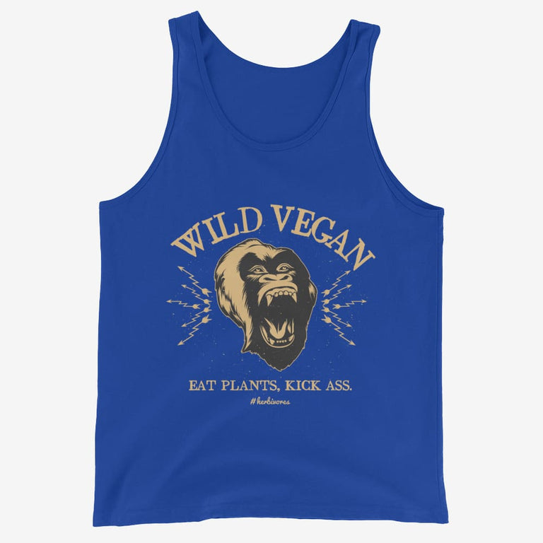 Mens Wild Vegan Tank Top - True Royal / Xs