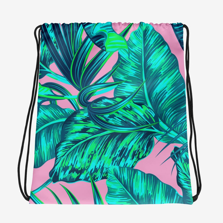 Save The Rainforest. Go Vegan Drawstring Bag
