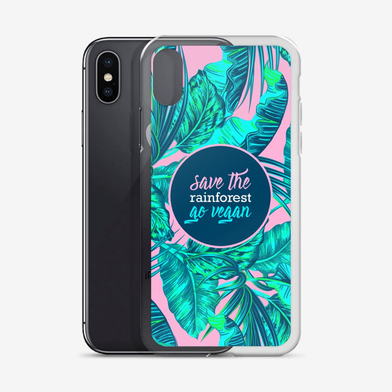 Save The Rainforest. Go Vegan Iphone Case