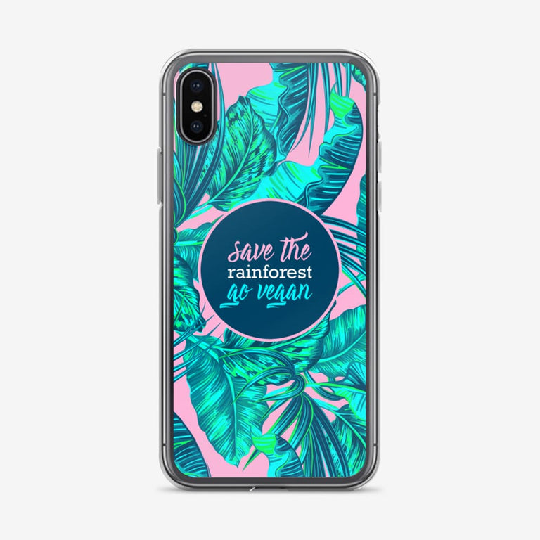 Save The Rainforest. Go Vegan Iphone Case - Iphone X
