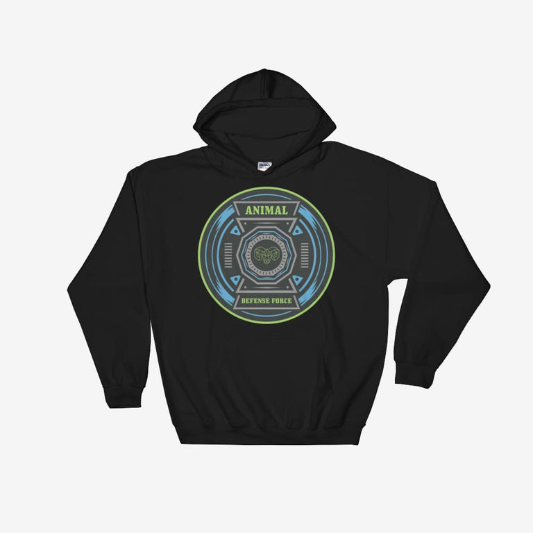Unisex Animal Defense Force Hooded Sweatshirt - Black / S