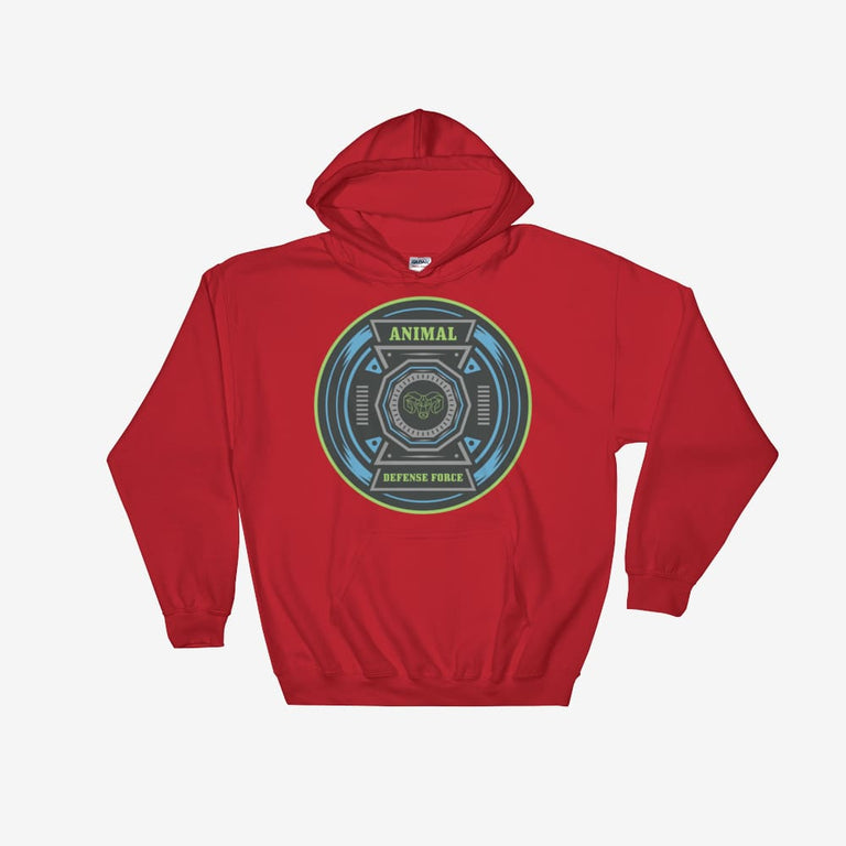 Unisex Animal Defense Force Hooded Sweatshirt - Red / S