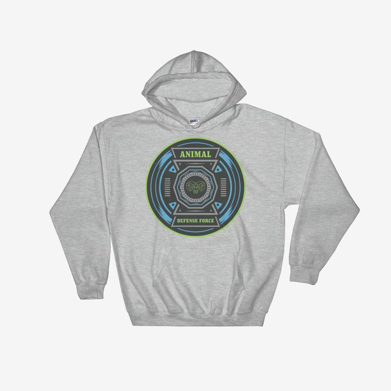 Unisex Animal Defense Force Hooded Sweatshirt - Sport Grey / S