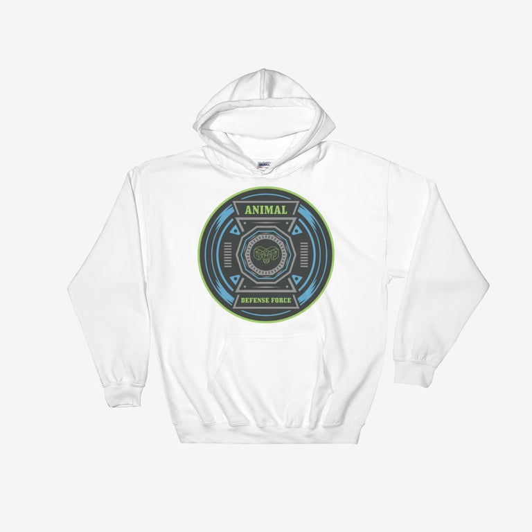 Unisex Animal Defense Force Hooded Sweatshirt - White / S