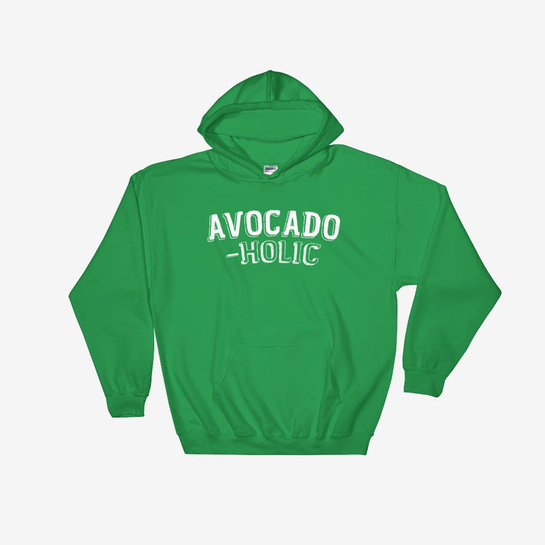 Unisex Avocado-Holic Hooded Sweatshirt - Irish Green / S