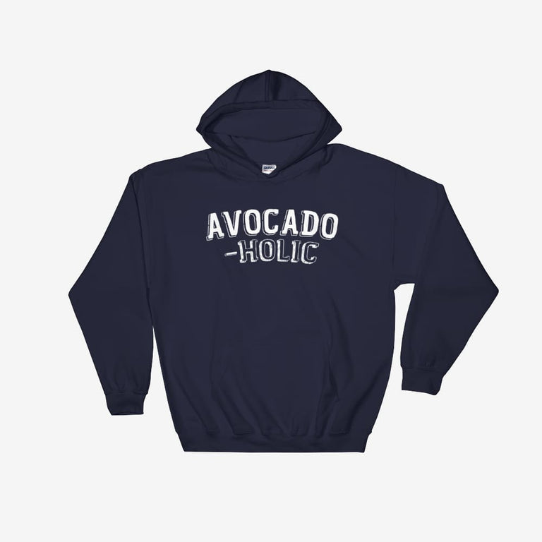 Unisex Avocado-Holic Hooded Sweatshirt - Navy / S