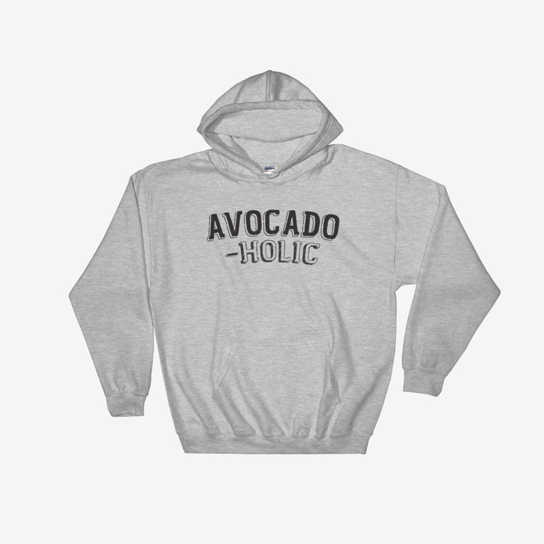 Unisex Avocado-Holic Hooded Sweatshirt - Sport Grey / S