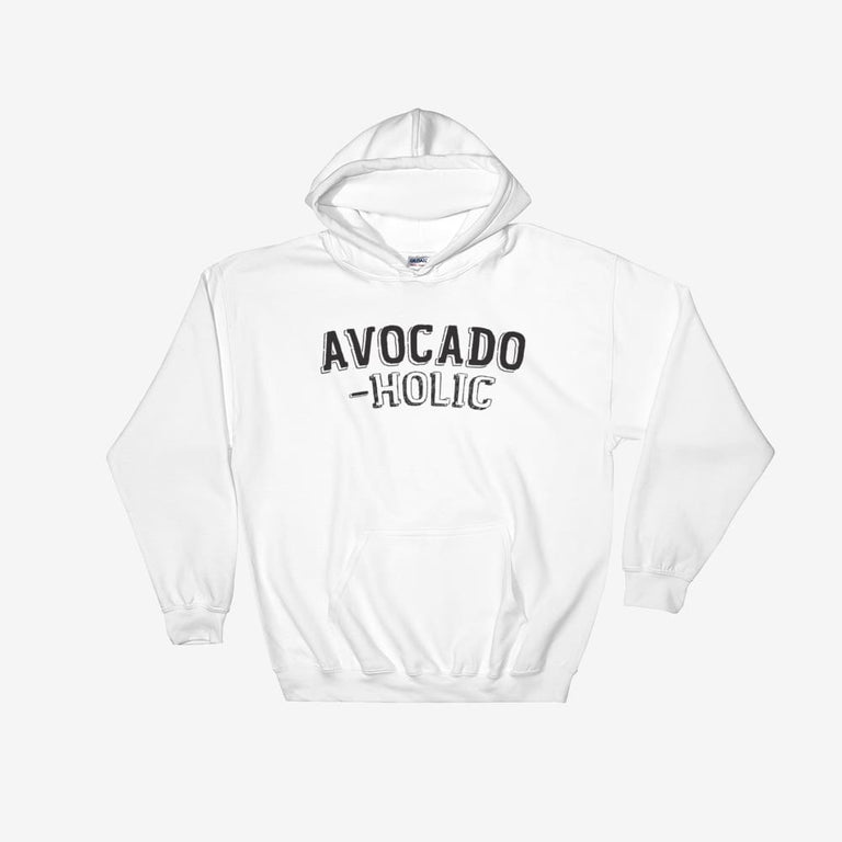Unisex Avocado-Holic Hooded Sweatshirt - White / S