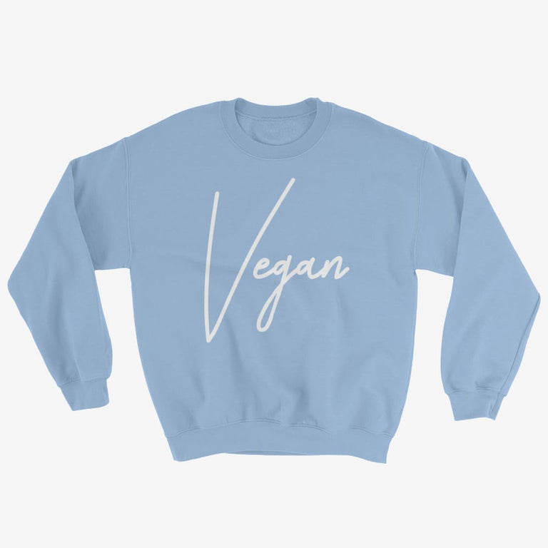 Unisex Chic Vegan Sweatshirt - Light Blue / S