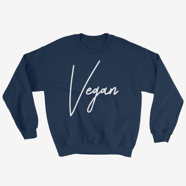 Unisex Chic Vegan Sweatshirt - Navy / S