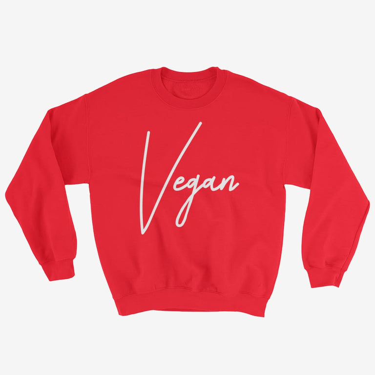 Unisex Chic Vegan Sweatshirt - Red / S