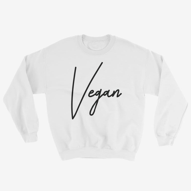 Unisex Chic Vegan Sweatshirt - White / S