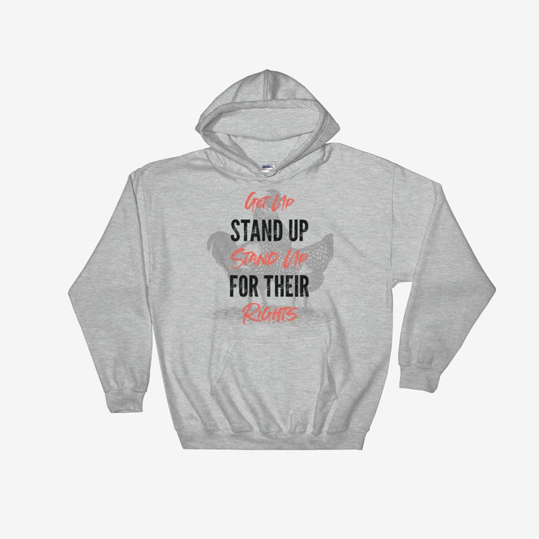 Unisex Get Up Stand Up Hooded Sweatshirt - Sport Grey / S
