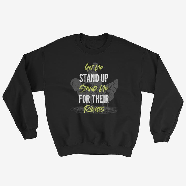 Unisex Get Up Stand Up Sweatshirt - Black / S