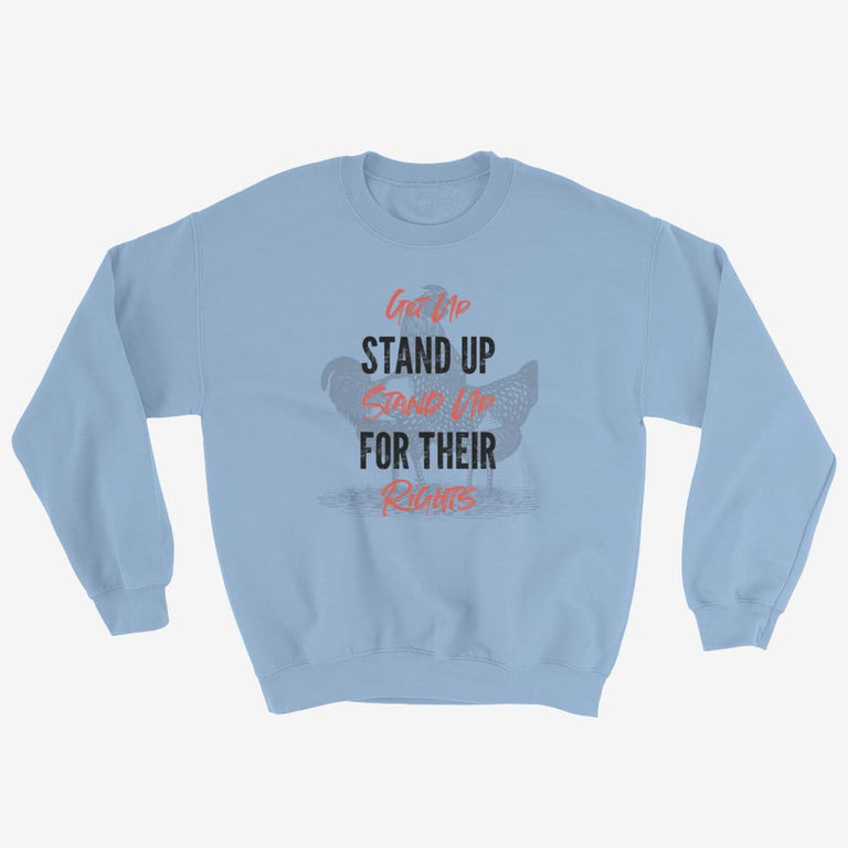 Unisex Get Up Stand Up Sweatshirt - Light Blue / S