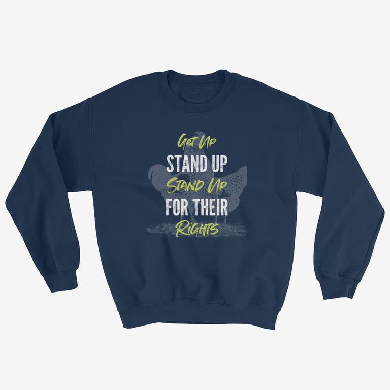 Unisex Get Up Stand Up Sweatshirt - Navy / S