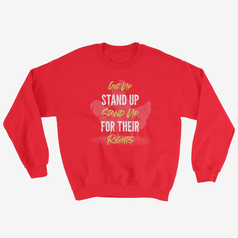 Unisex Get Up Stand Up Sweatshirt - Red / S