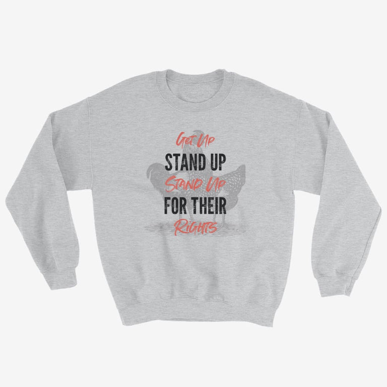 Unisex Get Up Stand Up Sweatshirt - Sport Grey / S