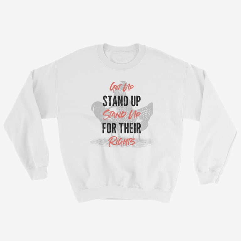 Unisex Get Up Stand Up Sweatshirt - White / S