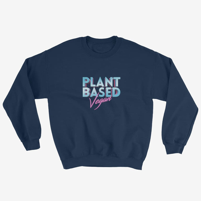 Unisex Retro Plant Based Vegan Sweatshirt - Navy / S