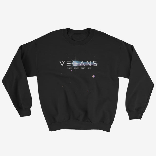 Unisex Vegans Are The Future Sweatshirt - Black / S