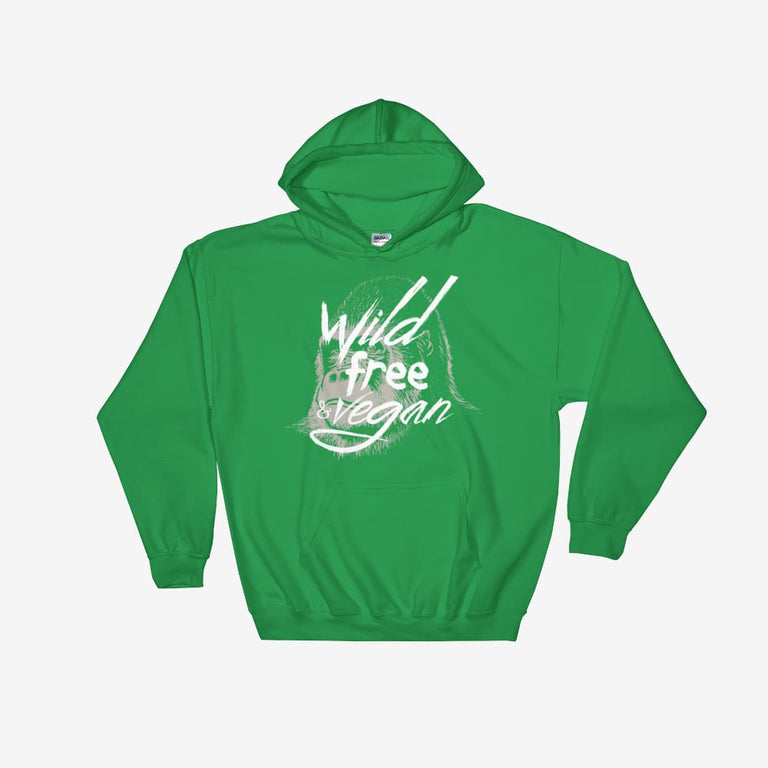 Unisex Wild Free & Vegan Hooded Sweatshirt - Irish Green / S