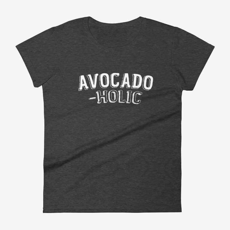 Womens Avocado-Holic Short Sleeve T-Shirt - Heather Dark Grey / S