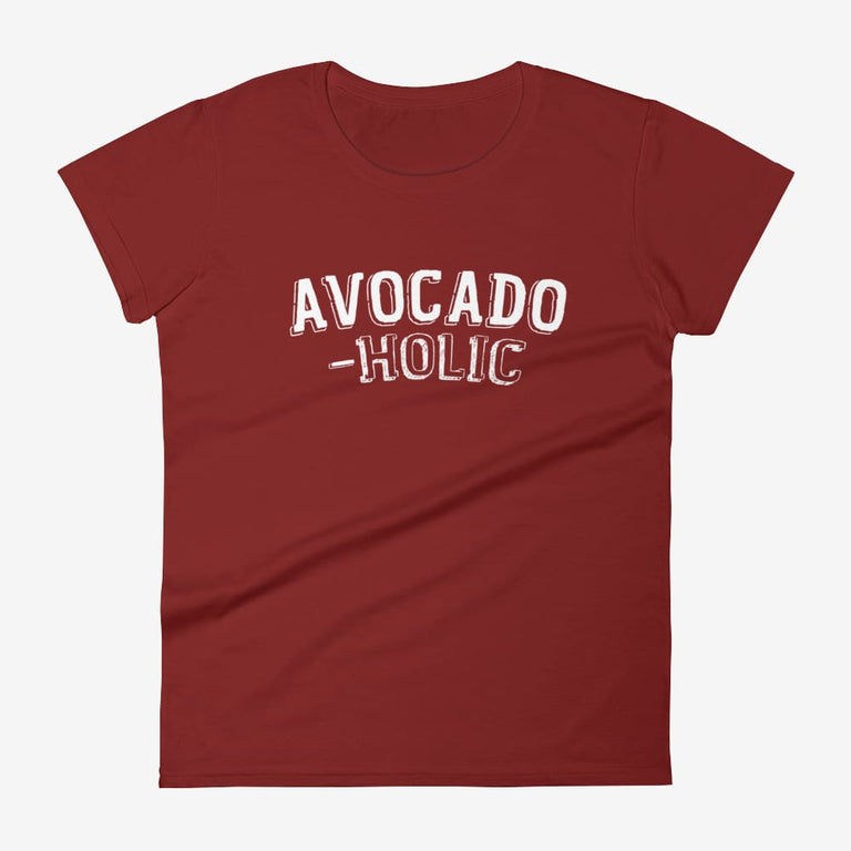 Womens Avocado-Holic Short Sleeve T-Shirt - Independence Red / S