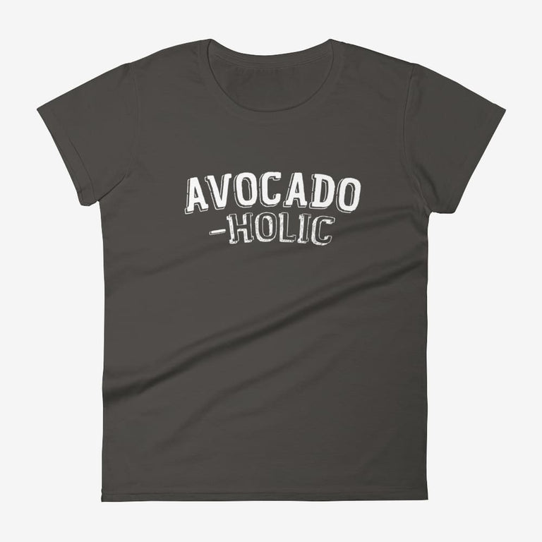 Womens Avocado-Holic Short Sleeve T-Shirt - Smoke / S