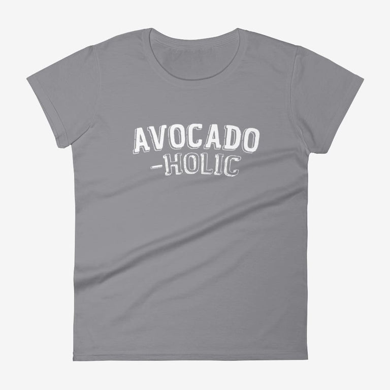Womens Avocado-Holic Short Sleeve T-Shirt - Storm Grey / S