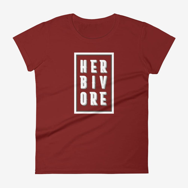 Womens Boxed Herbivore Short Sleeve T-Shirt - Independence Red / S
