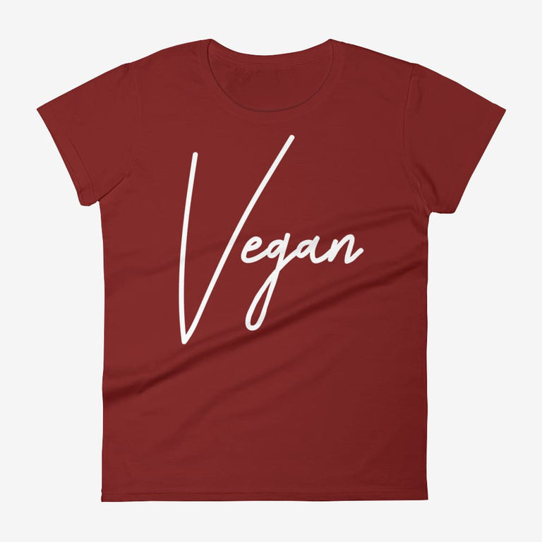 Womens Chic Vegan Short Sleeve T-Shirt - Independence Red / S