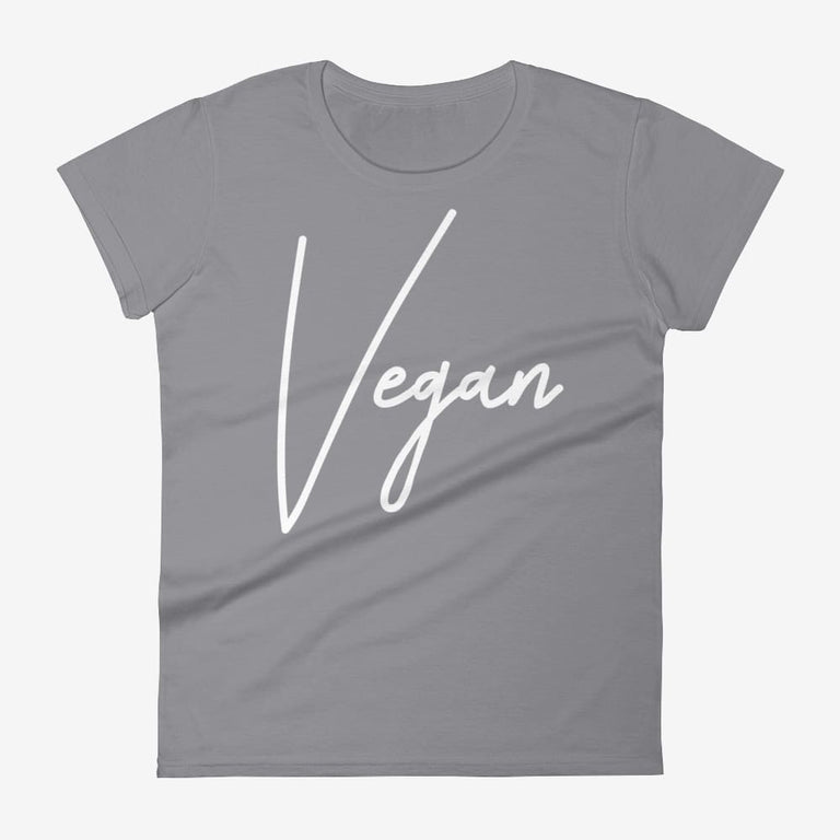 Womens Chic Vegan Short Sleeve T-Shirt - Storm Grey / S