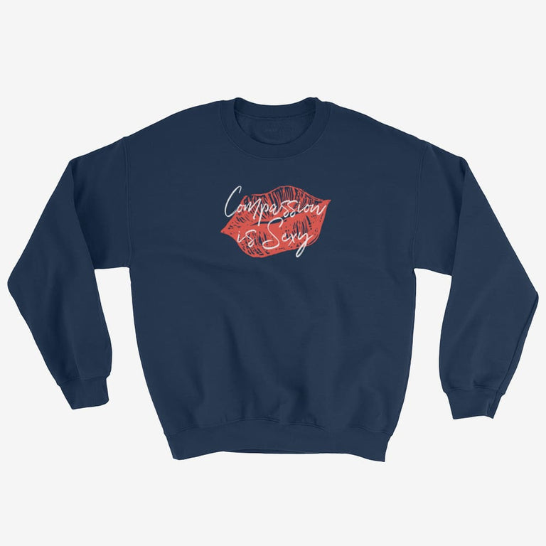 Womens Compassion Is Sexy Sweatshirt - Navy / S