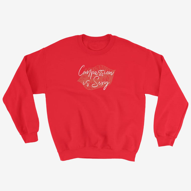 Womens Compassion Is Sexy Sweatshirt - Red / S
