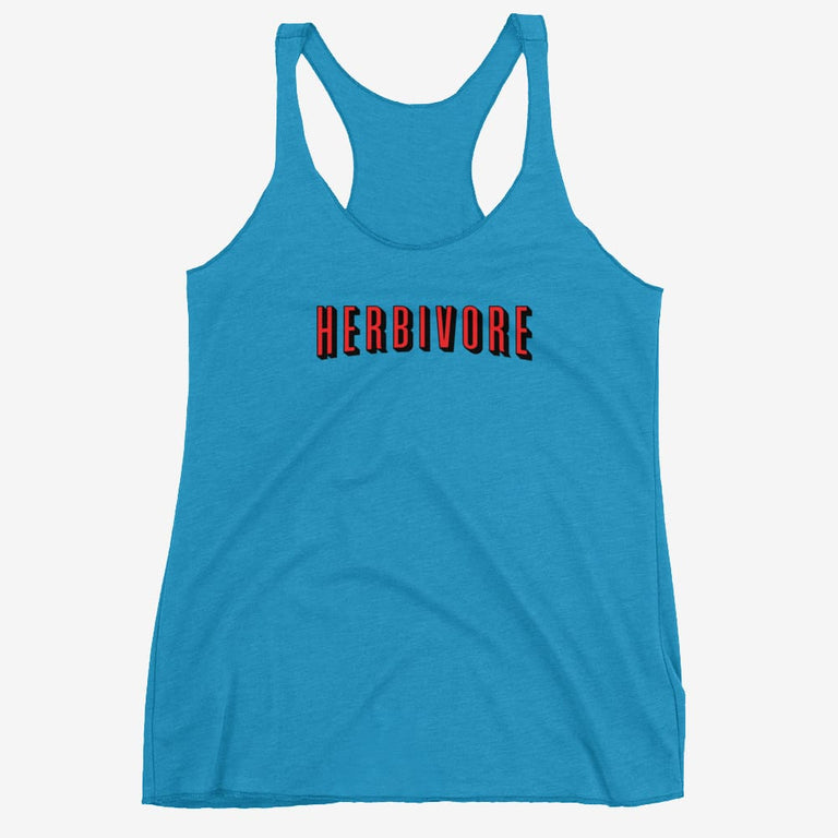 Womens Herbivore Flix Style Racerback Tank - Vintage Turquoise / Xs