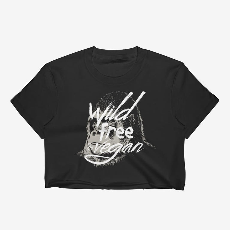 Womens Wild Free & Vegan Crop Top - S
