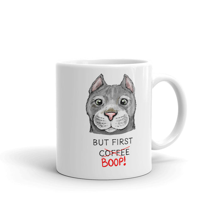 But First Coffee Boop Cat Portrait Mug