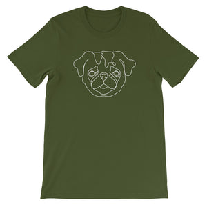 Pug Continuous Line Boop Short Sleeve T-Shirt