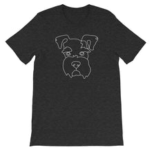 Load image into Gallery viewer, Schnauzer Continuous Line Boop Short Sleeve T-Shirt